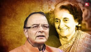 Jaitley compares Indira Gandhi to Hitler