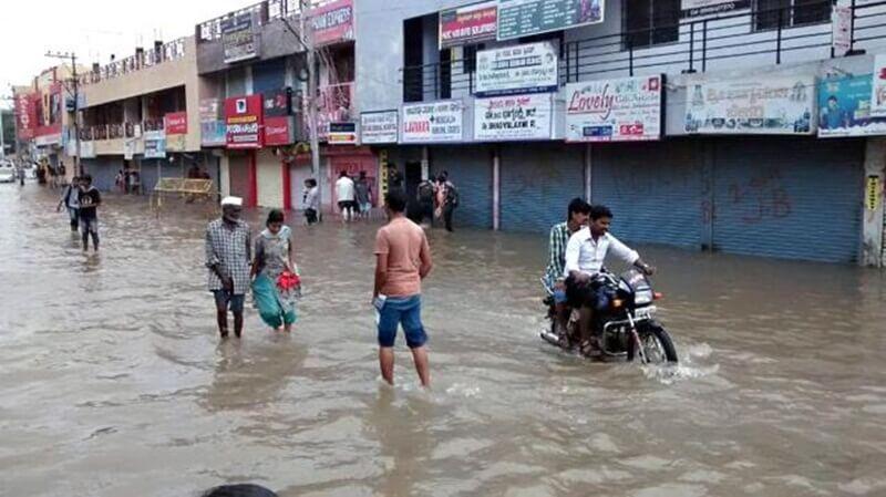 Monsoon rains leave parts of Kolkata under knee-deep water