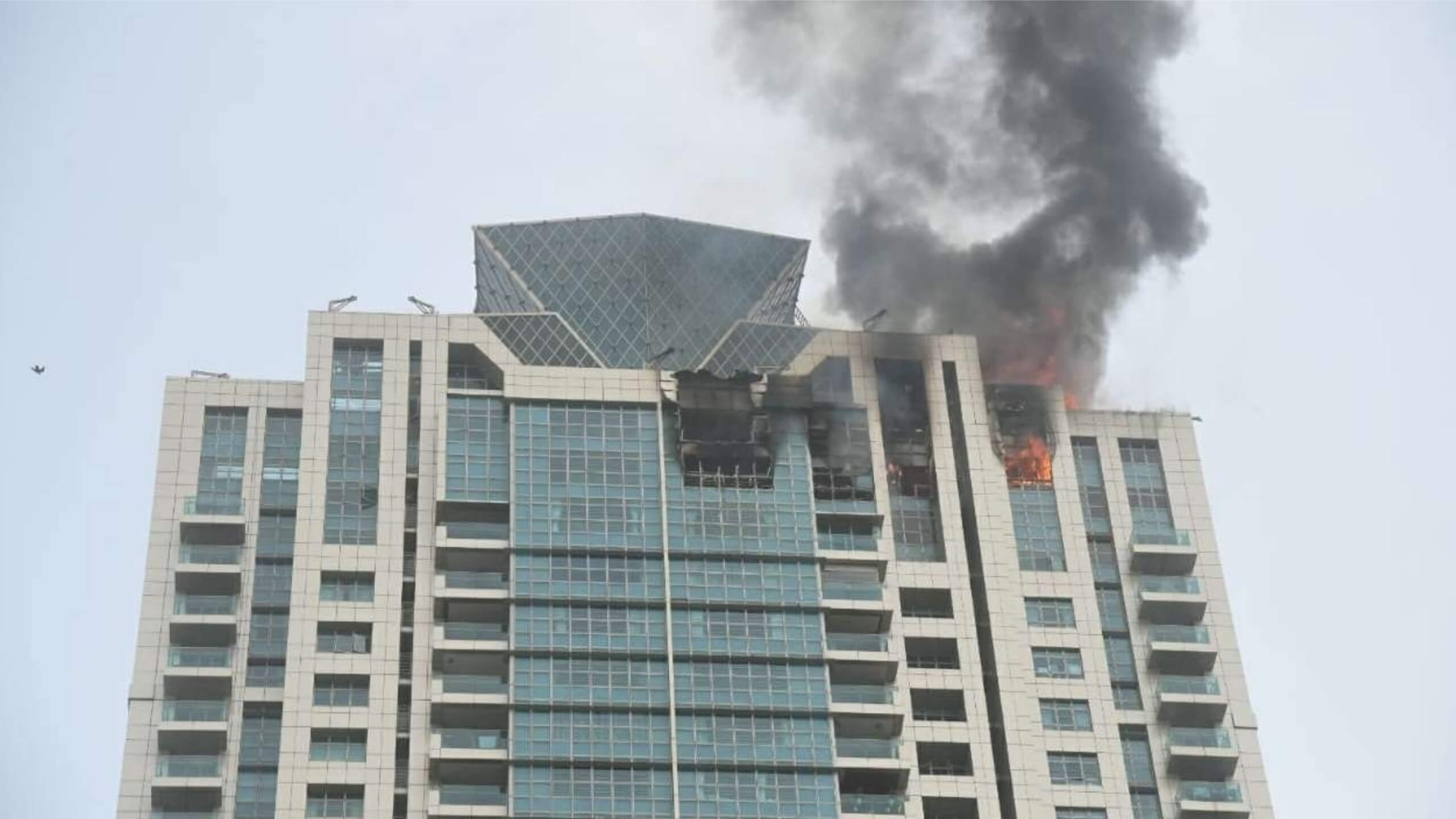 Massive Fire Outbreaks in Beumonde Towers, Mumbai