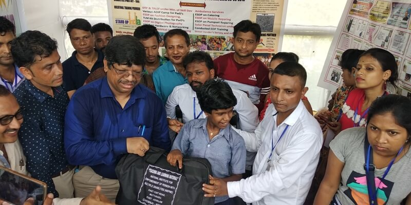 NGO distributes TLM kits among differently-abled trainees