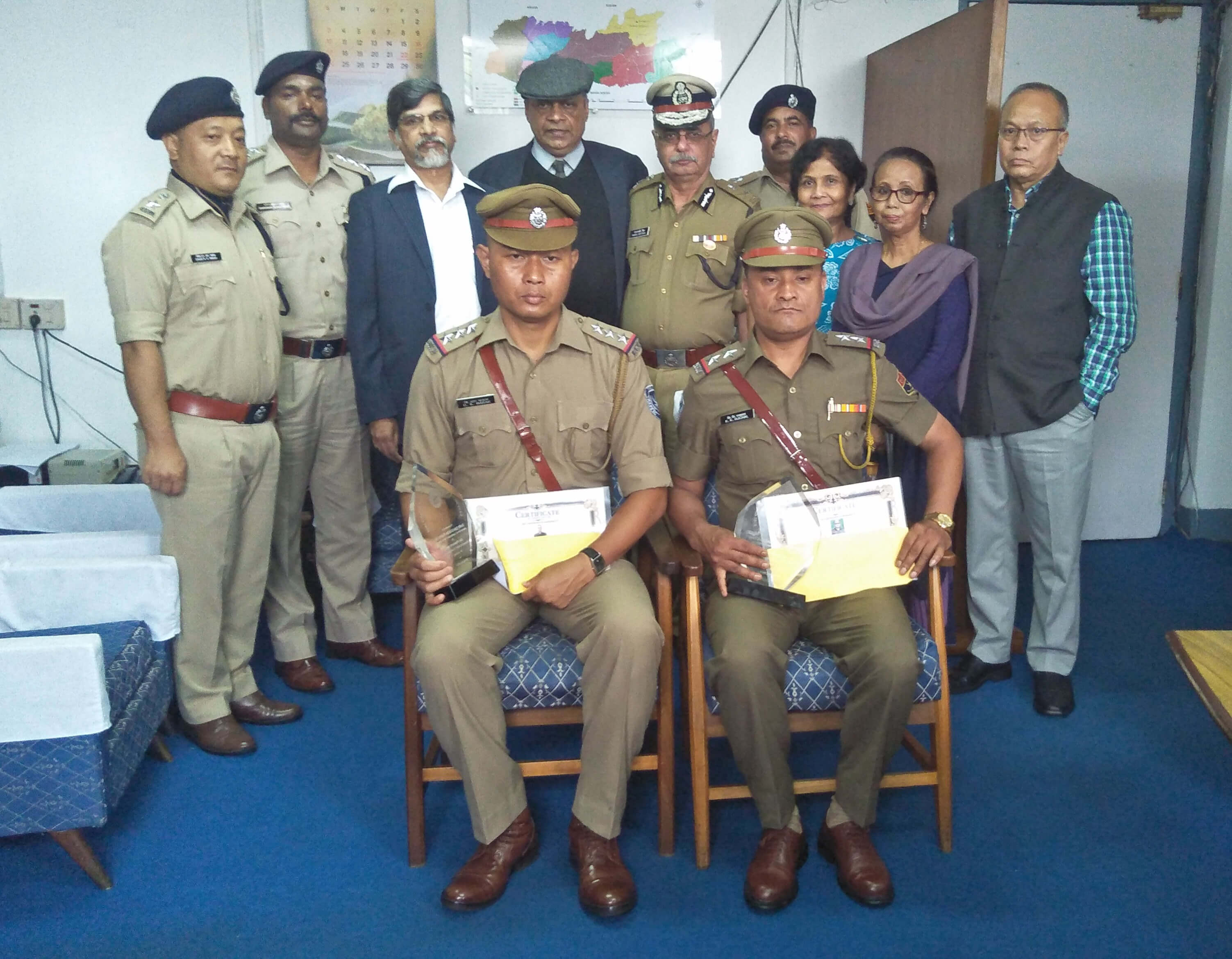 Traffic cops awarded for hard work