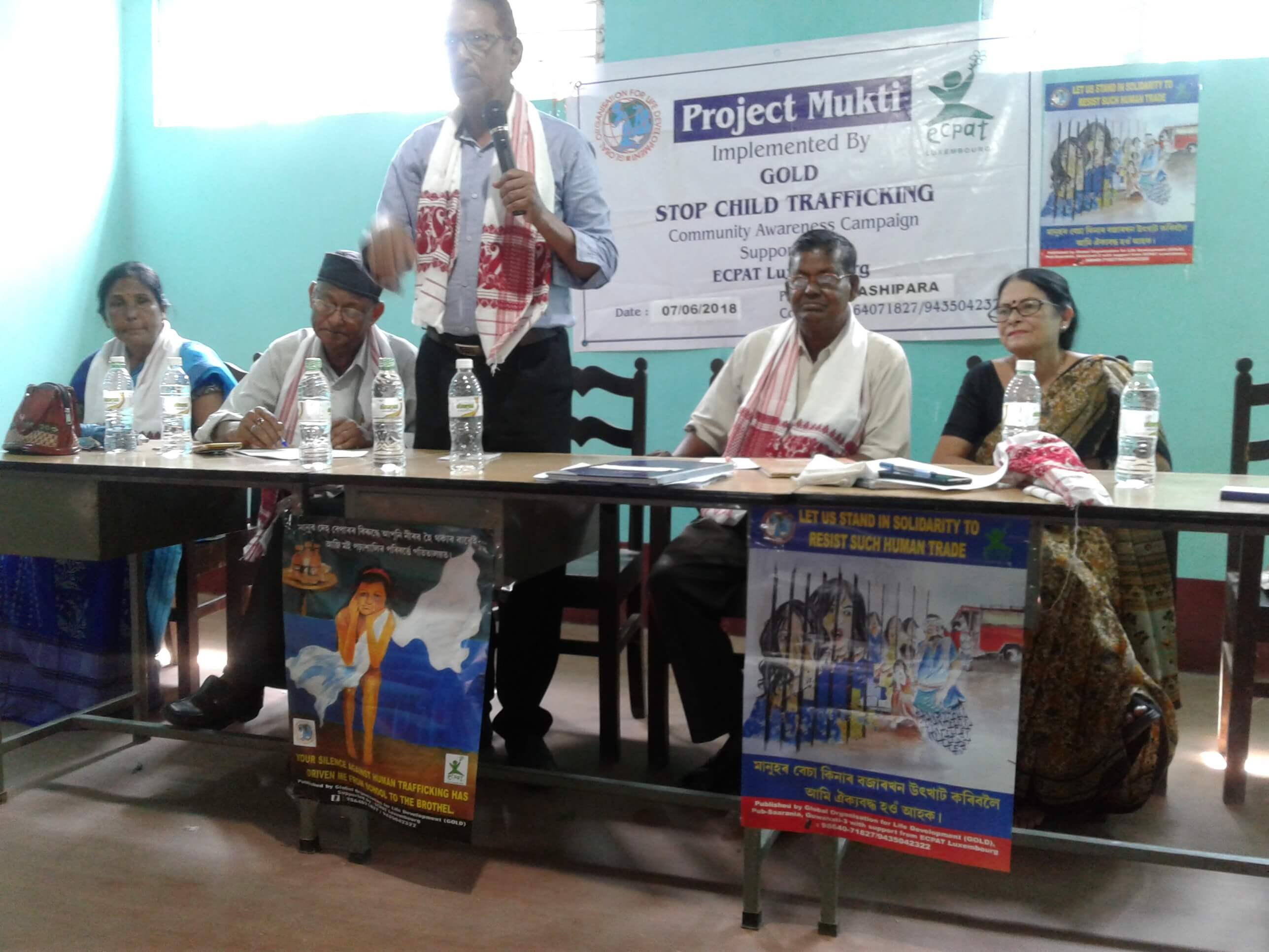 Workshop on human trafficking