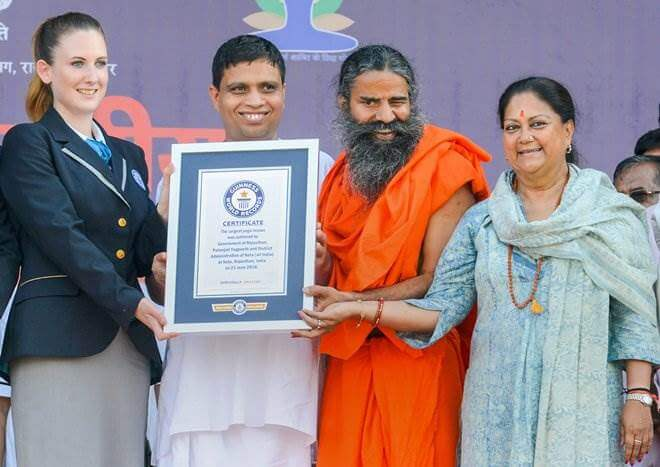 World record created with  2 lakh people performing yoga