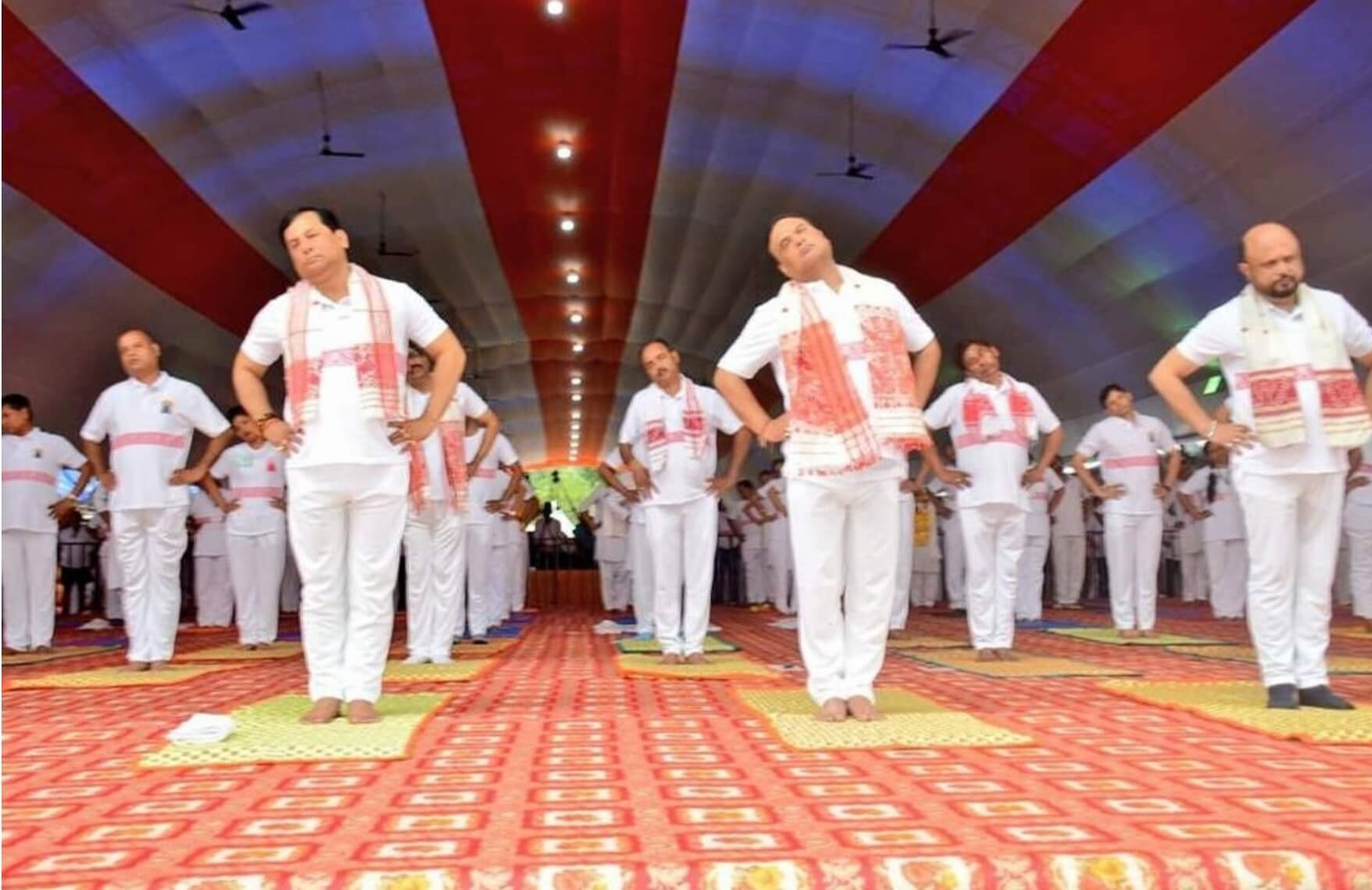 CM Sonowal leads 4th International Yoga Day Celebrations in Assam