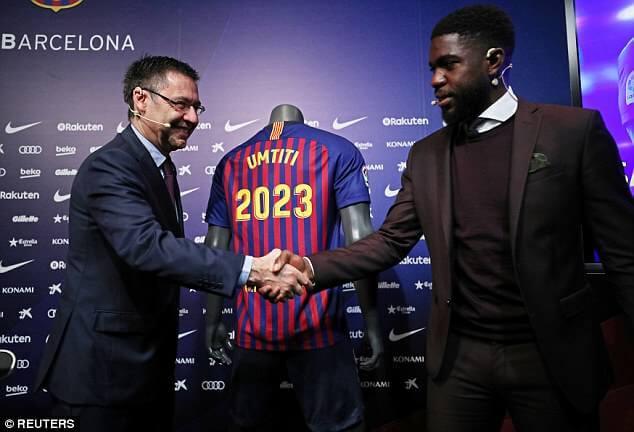 Umtiti renews contract at Barcelona