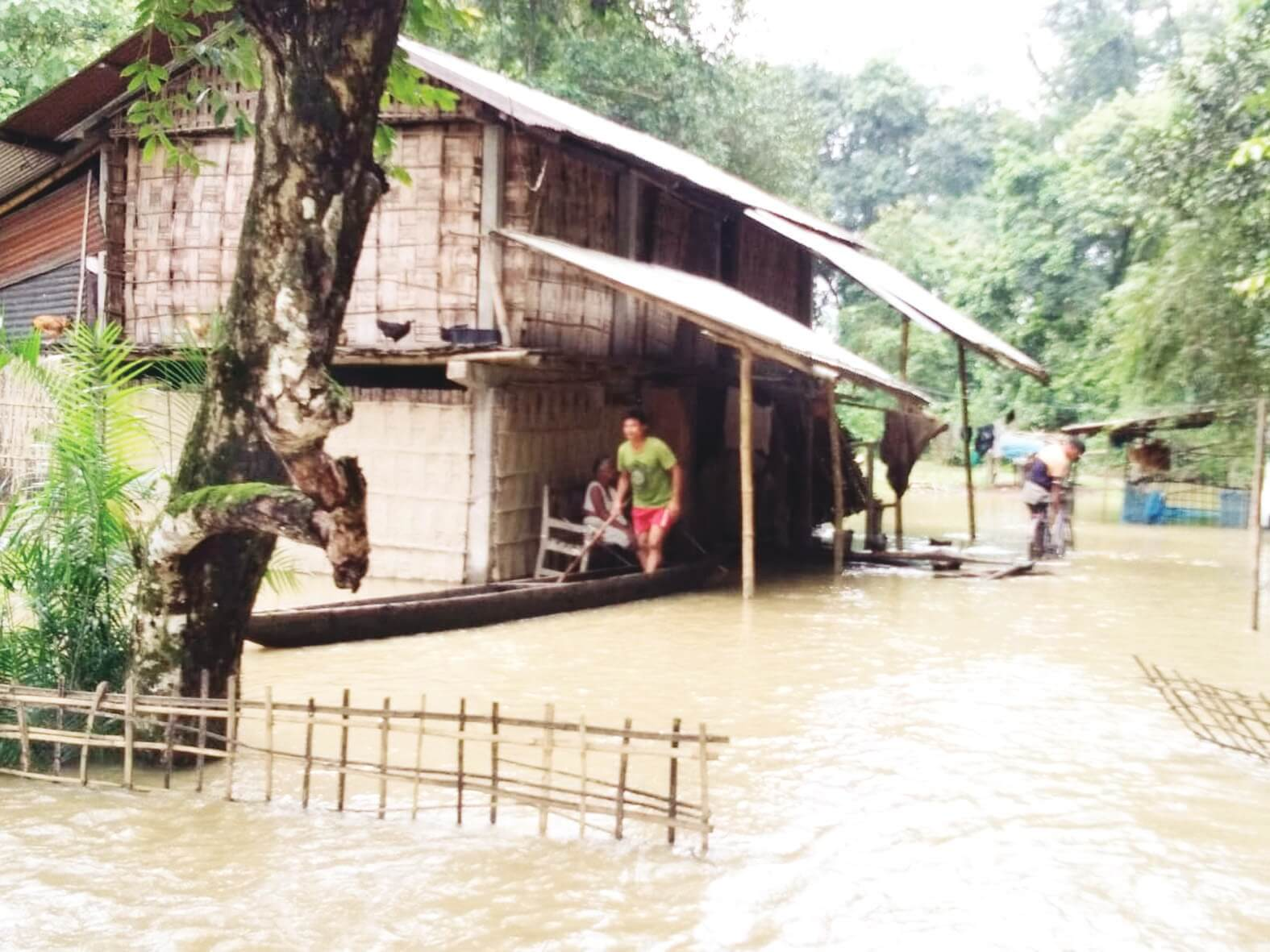 Flash flood inundates 25 villages in Lakhimpur & Dhemaji