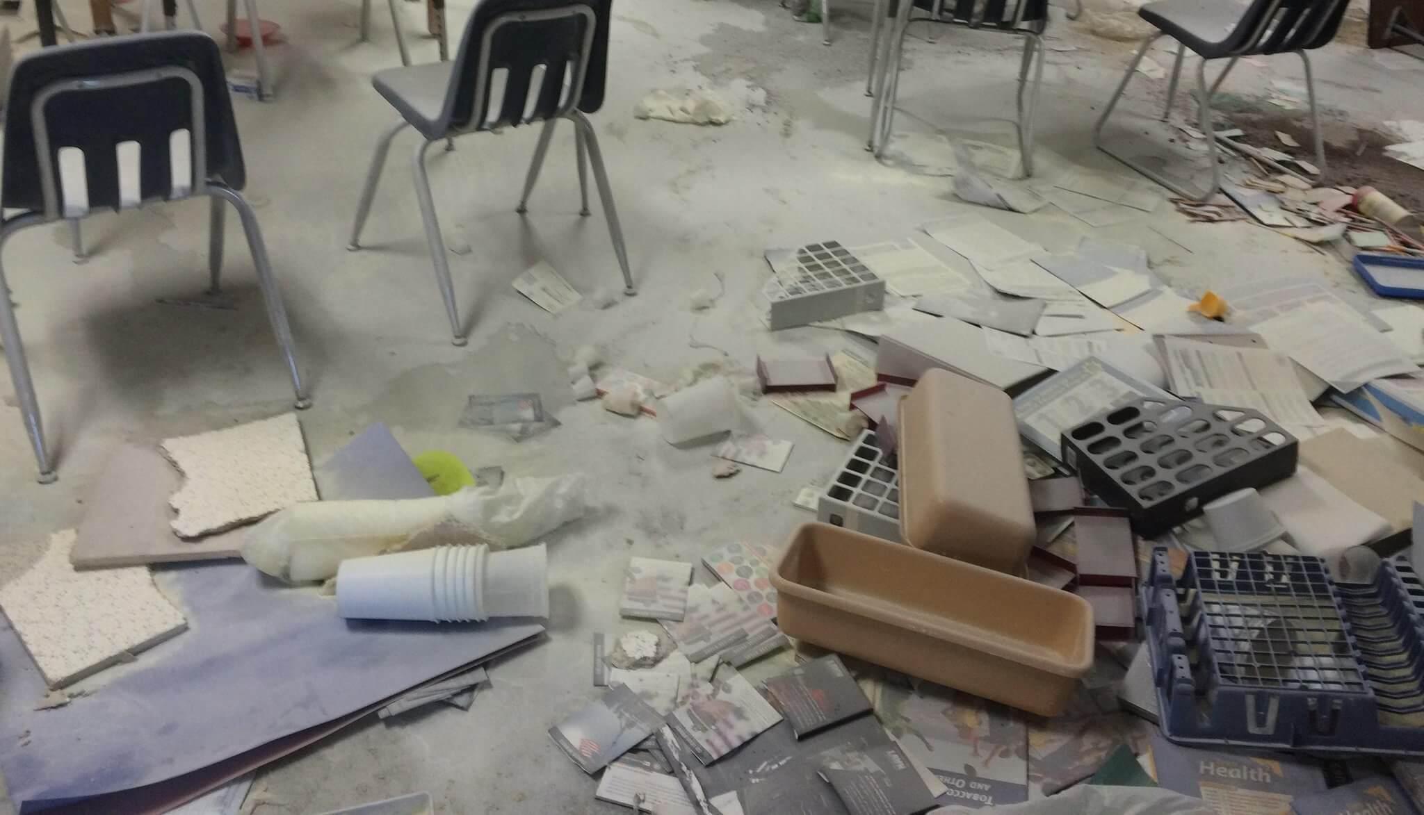 Irate mob vandalizes G D Nursing Home