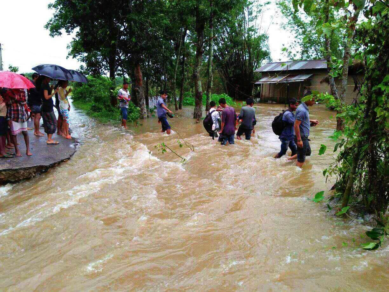 Incessant rain causes flood in Gohpur
