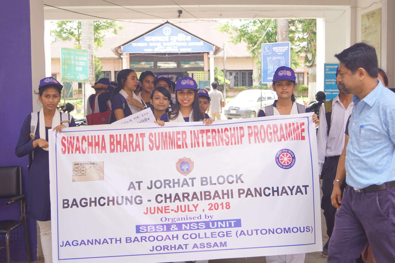 Swachh Bharat summer internship programme at JB College