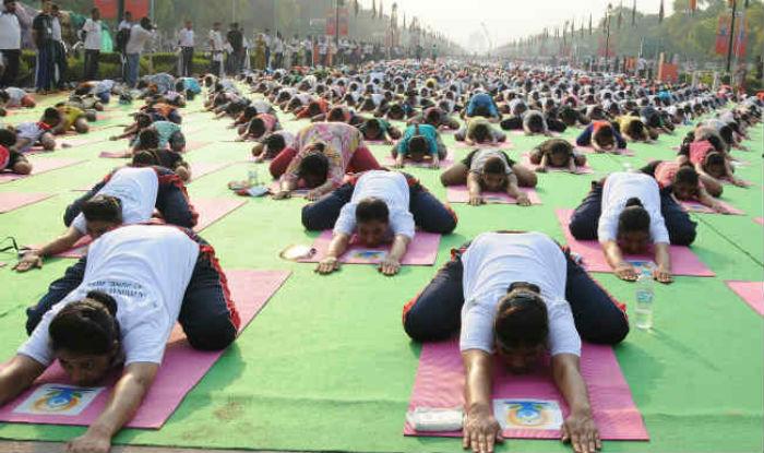 Preparation on for 4th International Yoga Day