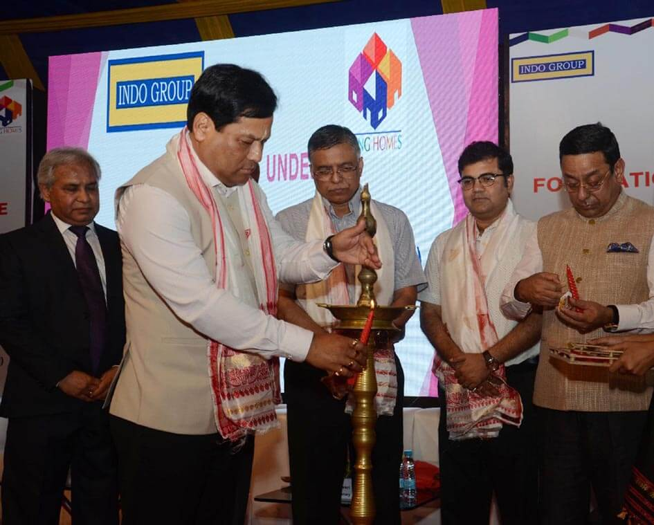 CM lays foundation stone of 'Rang Homes'