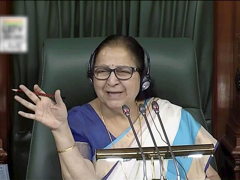 Will Reservation Bring Welfare, Asks Speaker Sumitra Mahajan