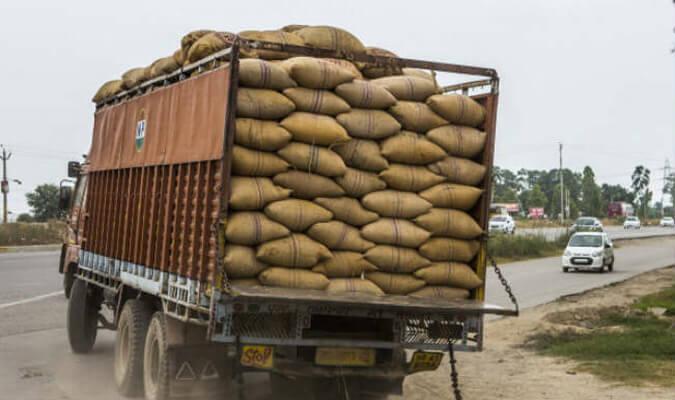 Truckload of rice grain seized