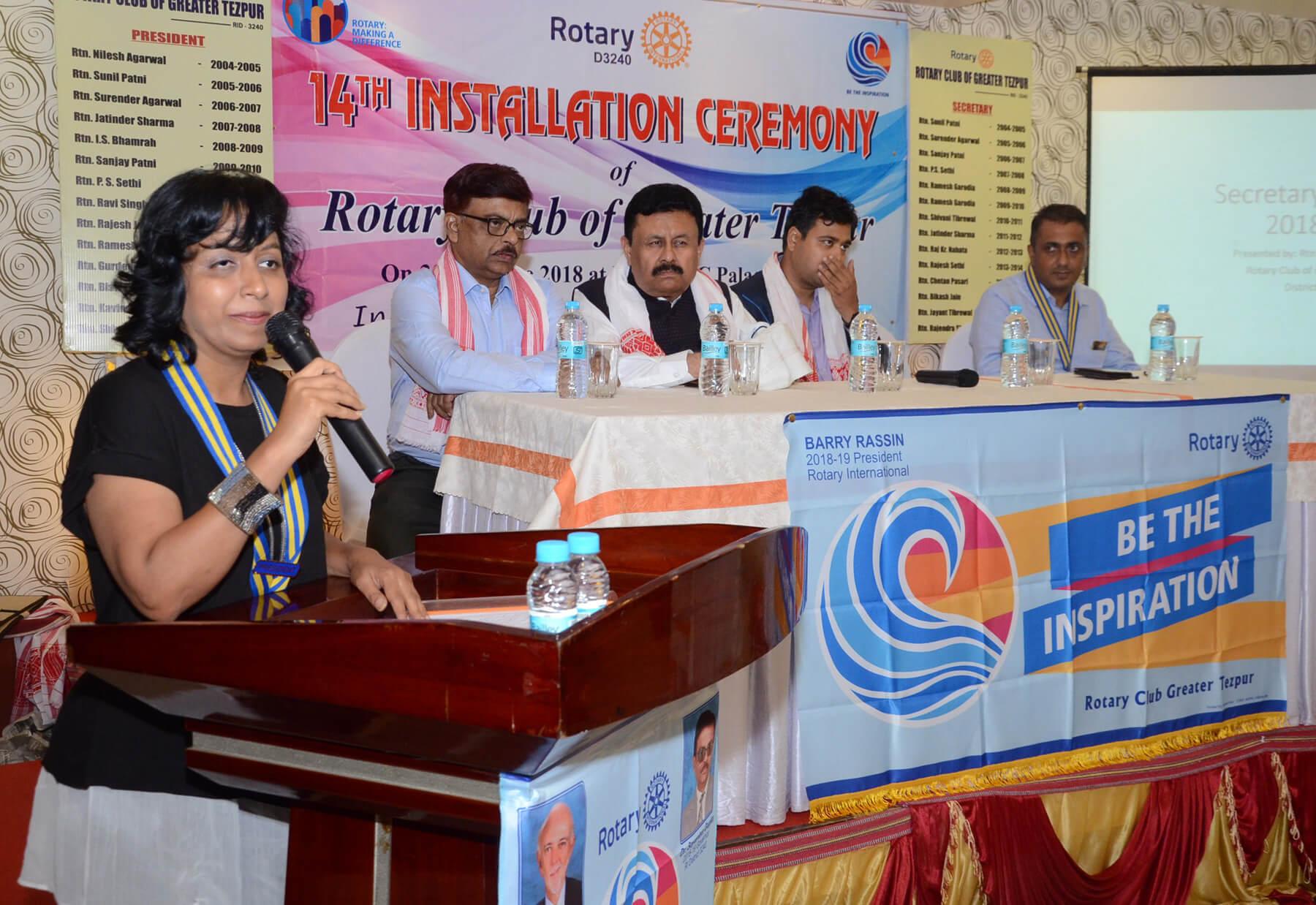 49th installation ceremony of Rotary Club Tinsukia