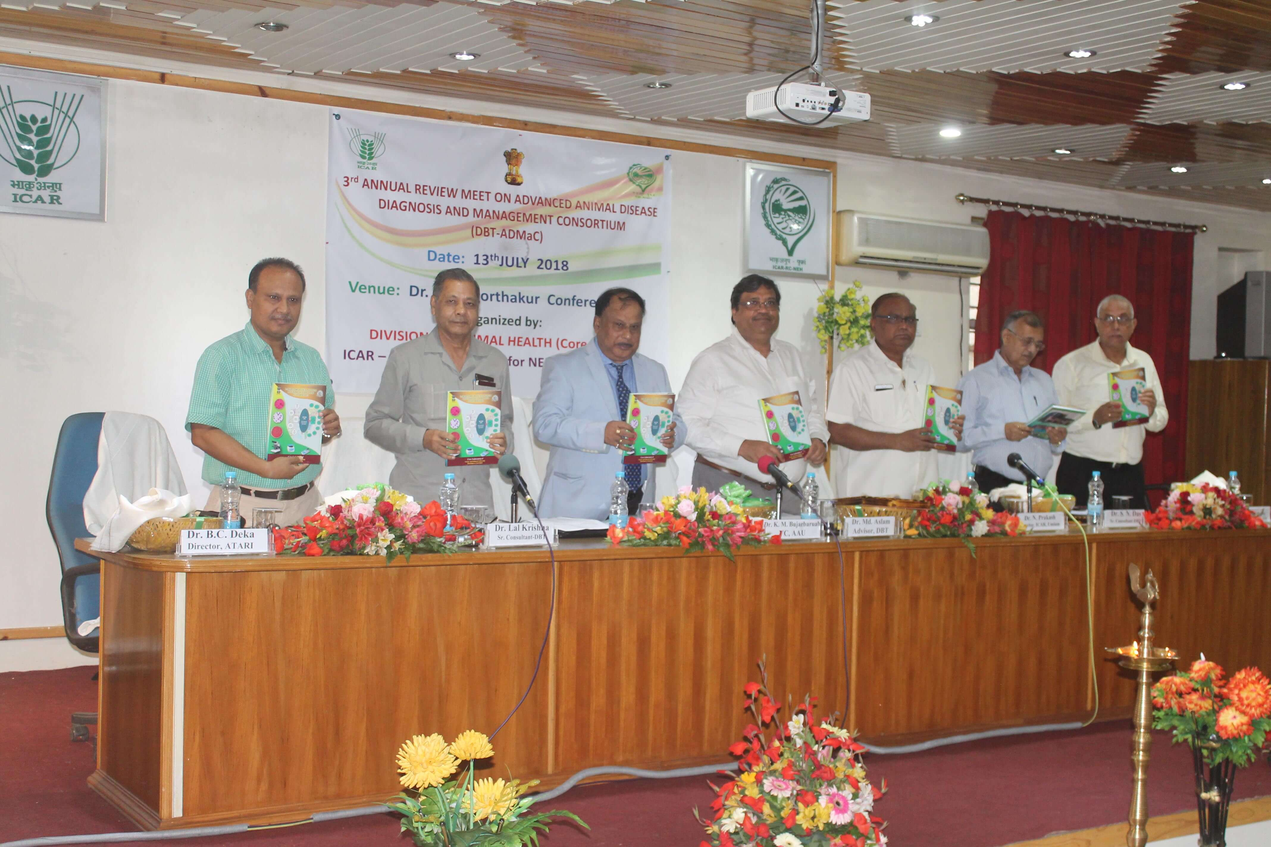 Annual meet of Advanced Animal Diseases Diagnosis and Management Consortium (ADMaC) held at Umiam