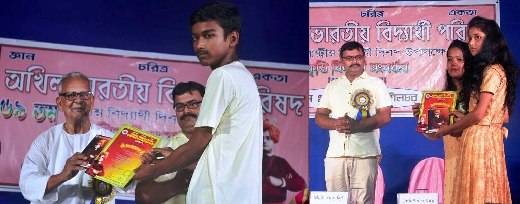 Akhil Bharatiya Vidyarthi Parishad (ABVP) felicitates 62 students