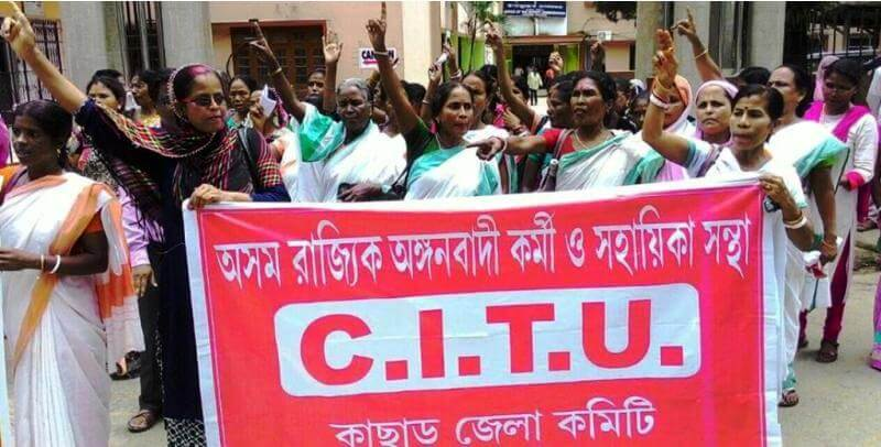Anganwadi workers, helpers rise against privatization of ICDS