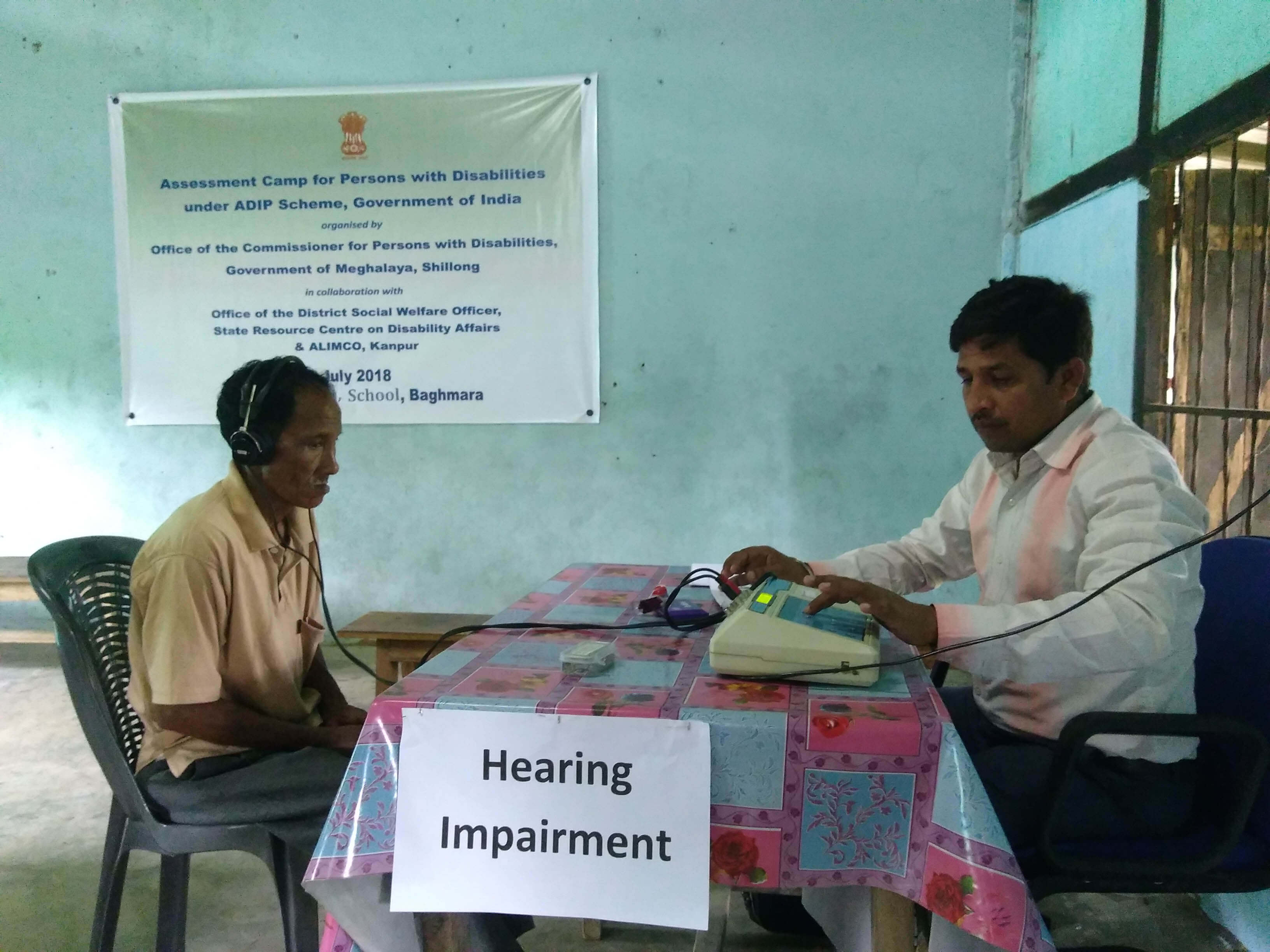 Assessment camp for persons with disabilities  held