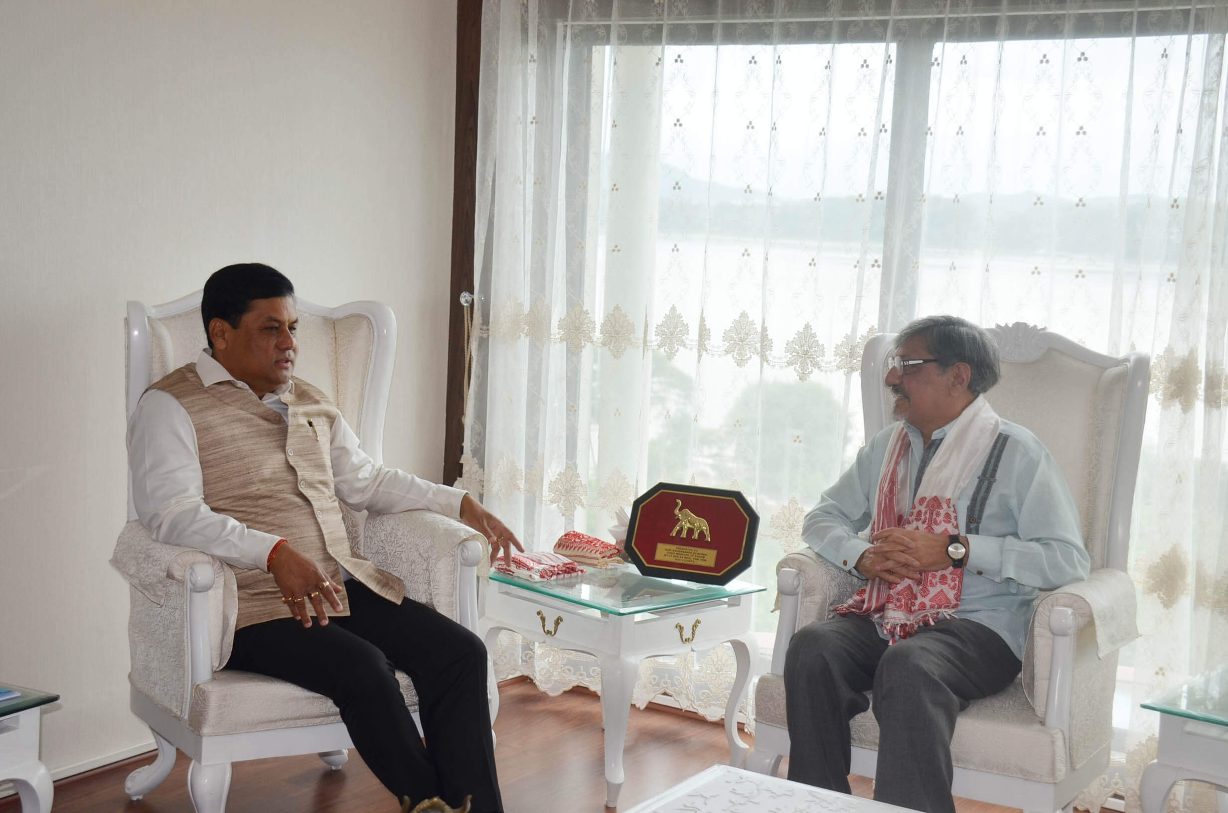 Assam Chief Minister Sarbananda Sonowal discusses Assamese cinema  promotion with Amol Palekar