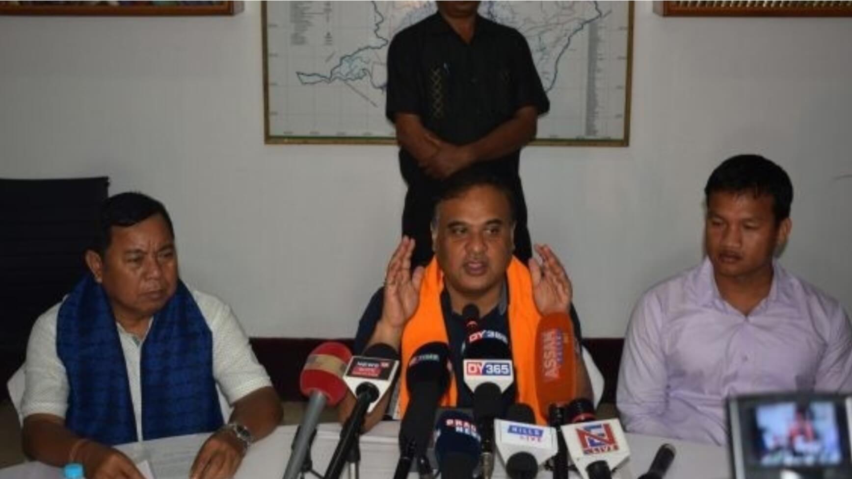 Himanta Biswa Sarma makes Incentive announcements following Dima Hasao visit