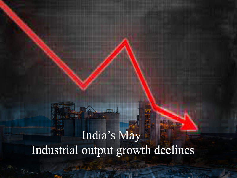 India's May industrial output growth declines