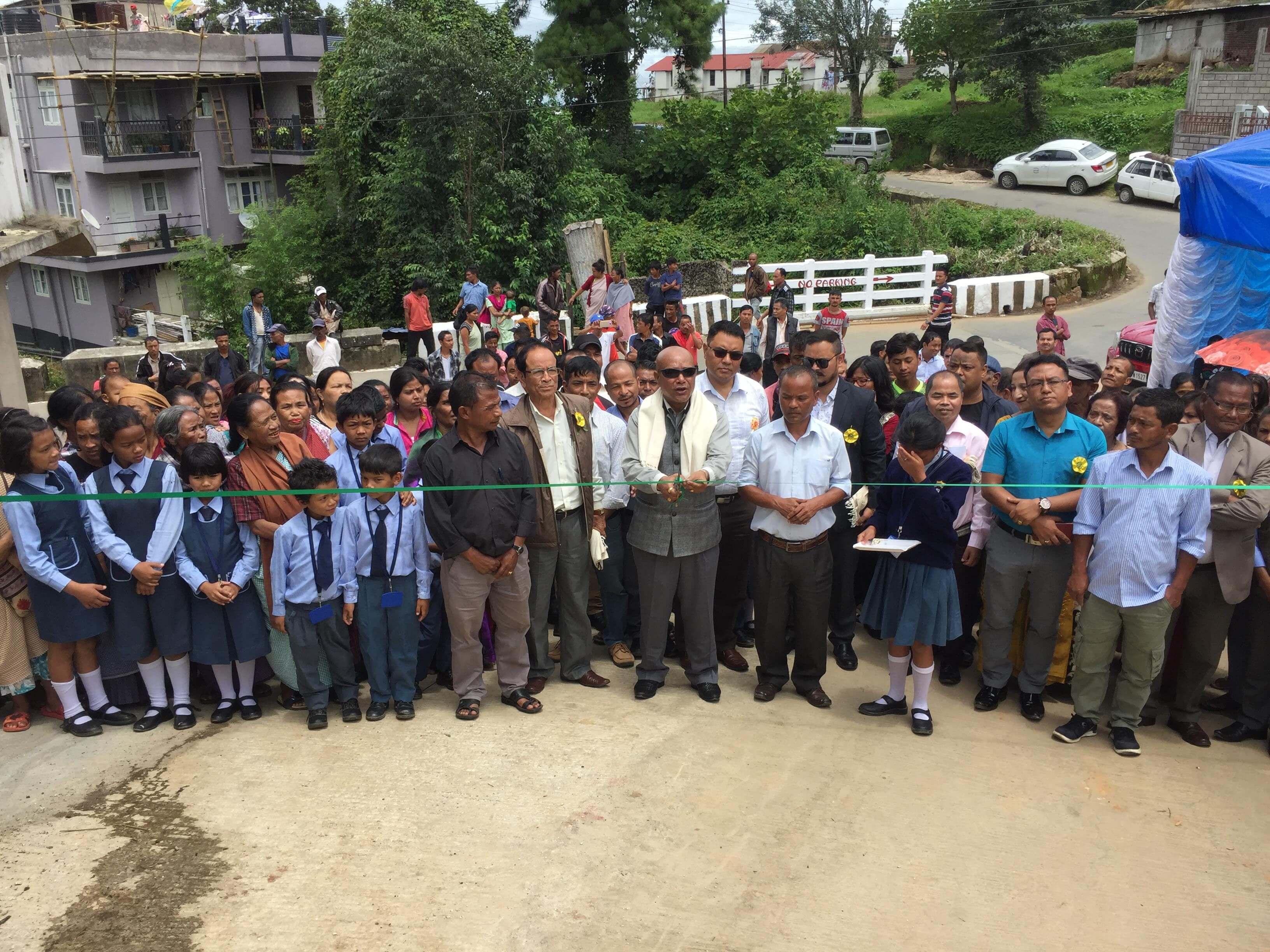 Sanbor Shullai inaugurates road to Kynjat Phutbol, Lumparing in Shillong