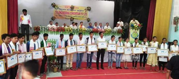 42 Poor Meritorious and Two Differently-abled Girl Students Were Felicitated for securing more than 80 % marks In Last HSLC Examination