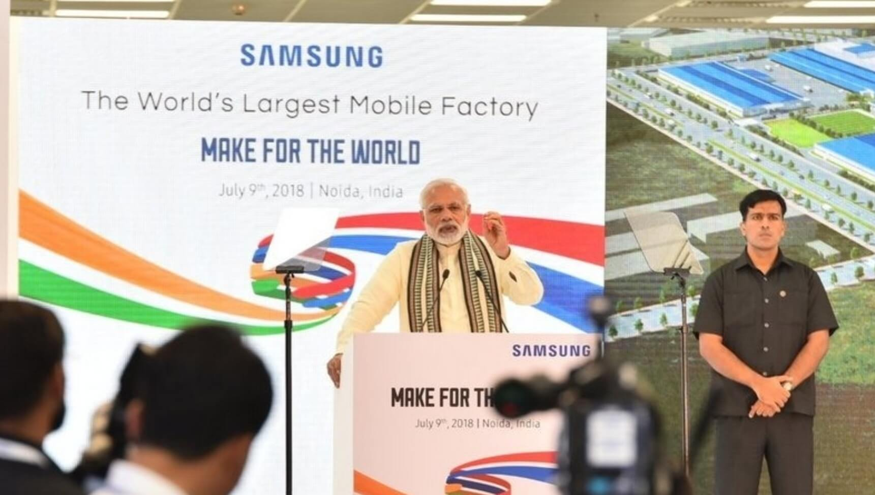 World's Largest Cell Phone Factory to be Opened by PM Modi at Noida