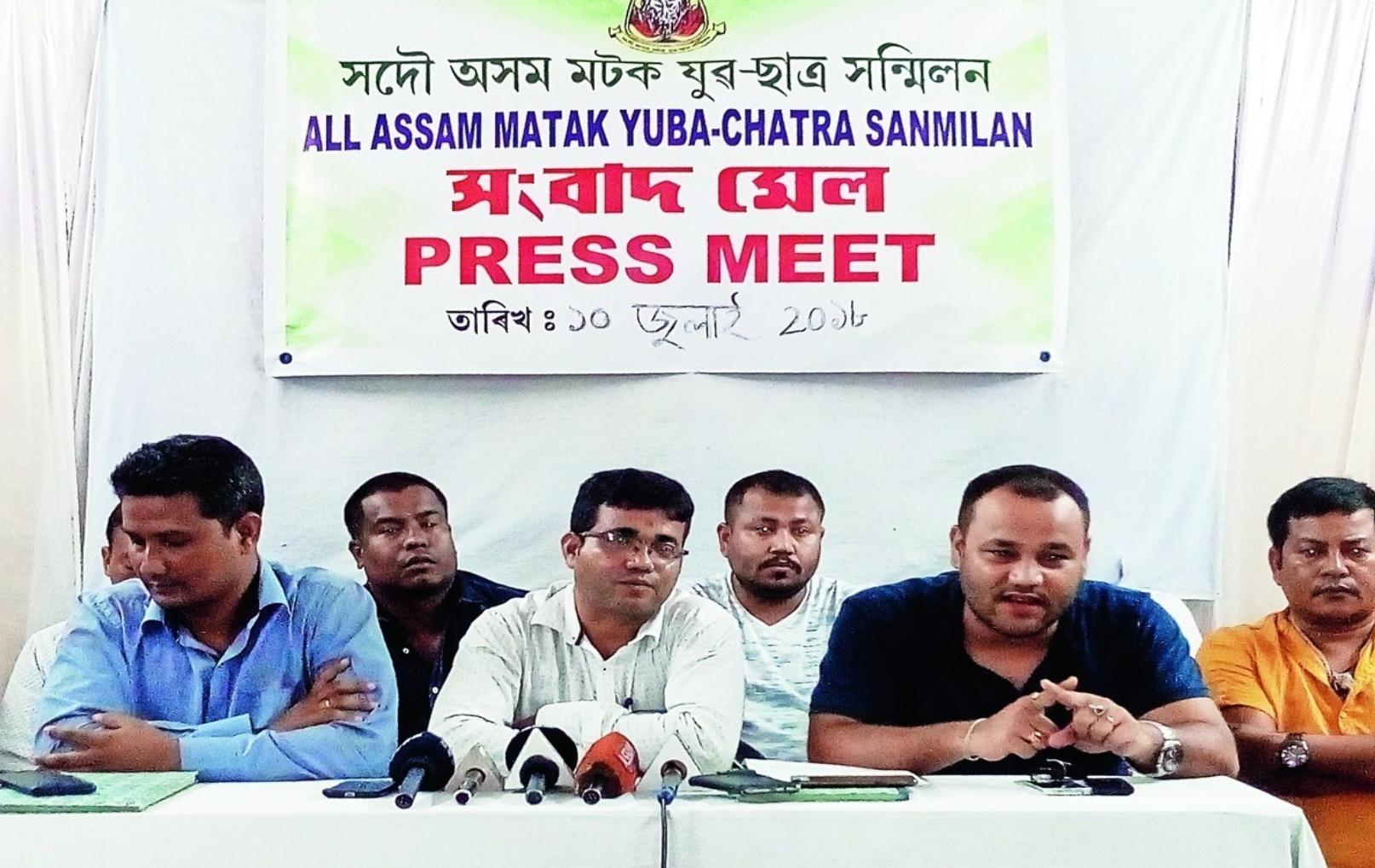All Assam Matak Yuva Chatra Sanmilan calls for 48 hour economic blockade