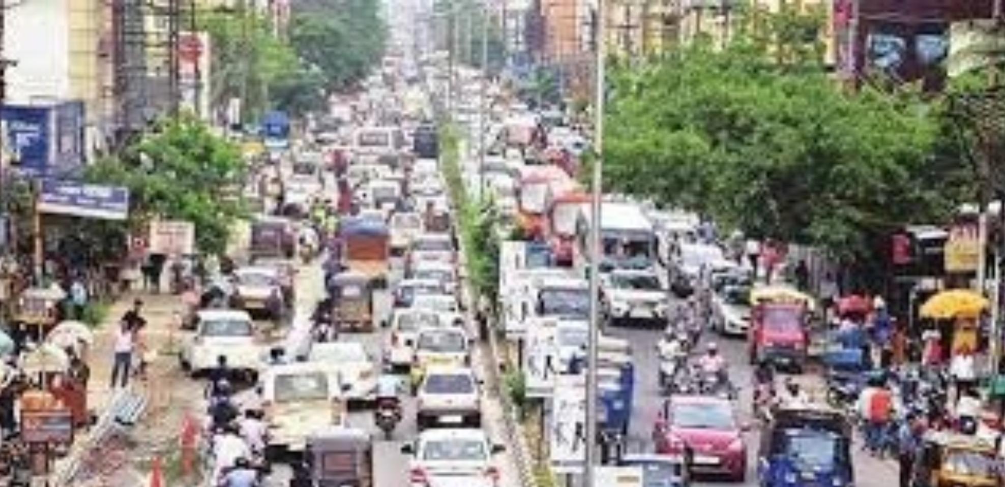 GMC Repair Works at Ambari Road, Unavoidable Traffic Congestion