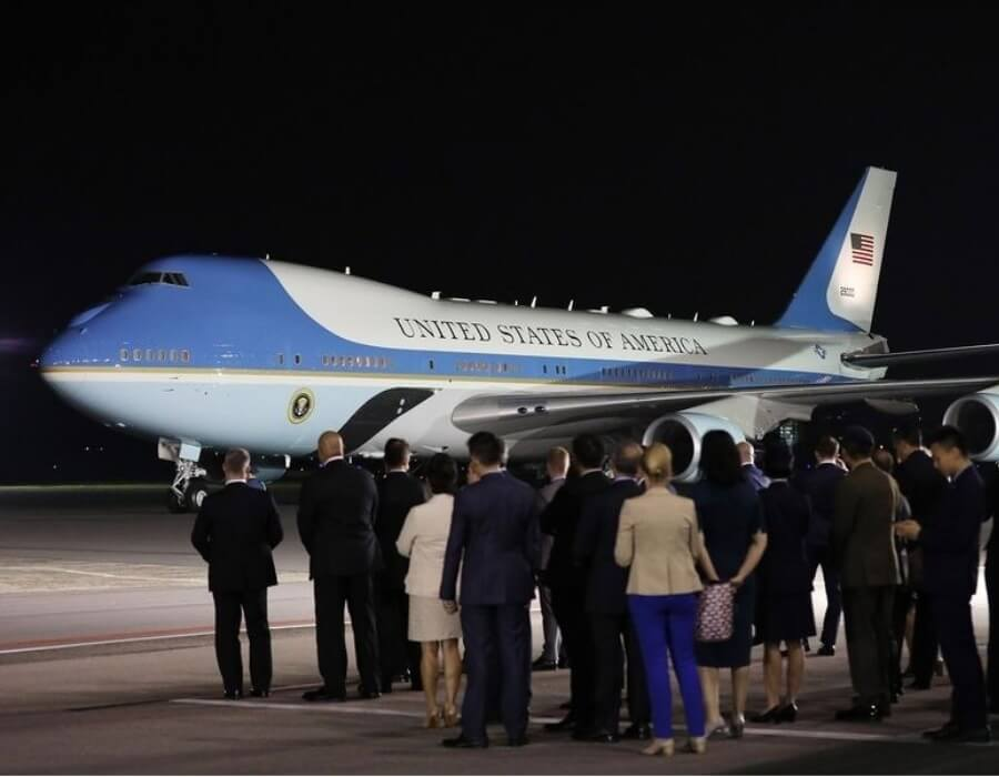 Air Force One to get red, white and blue paint job: US President Donald Trump