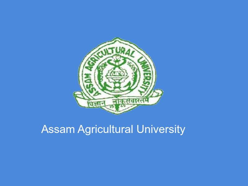 Assam Agricultural University Jobs 2018