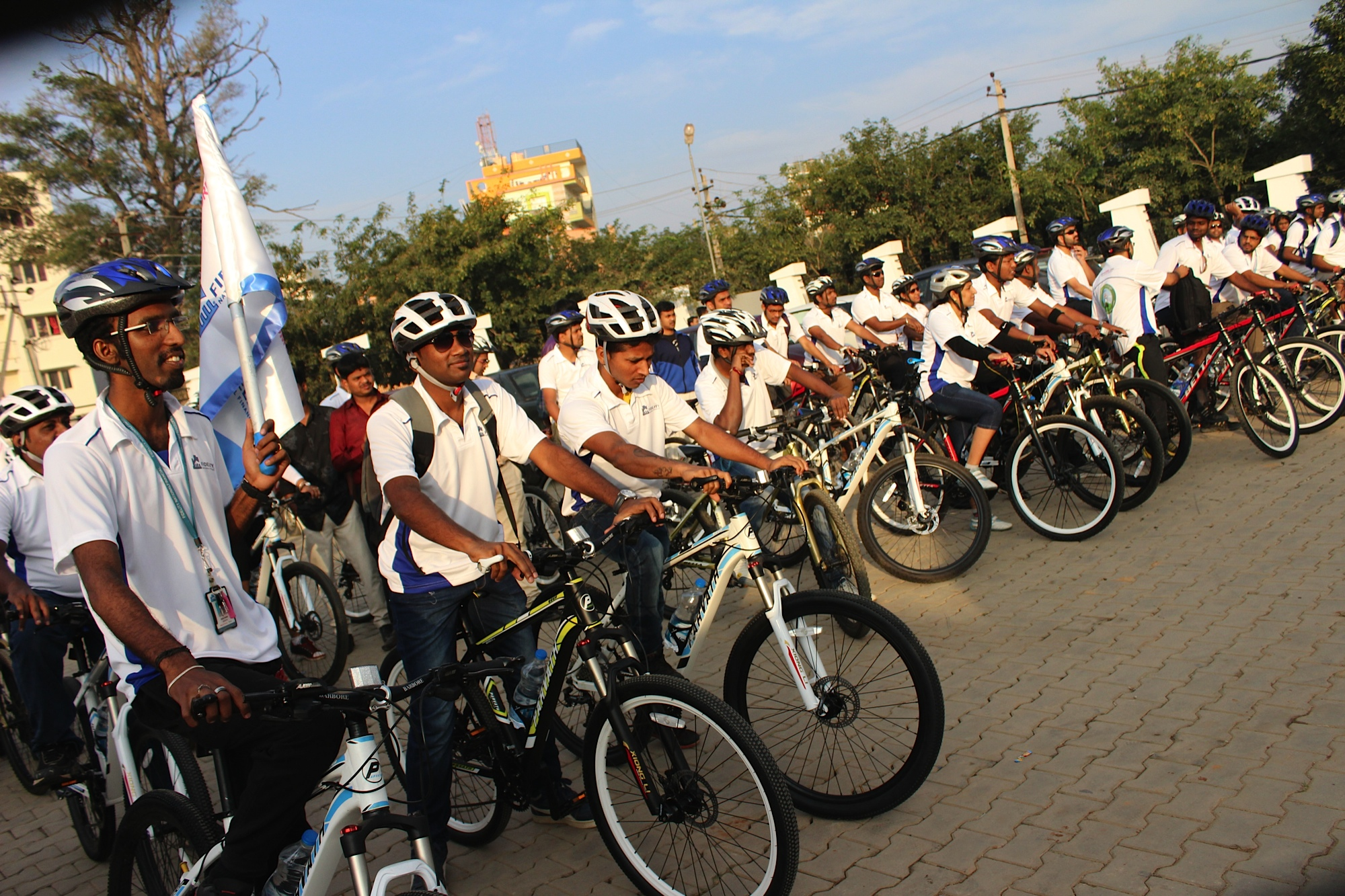 Bicycle rally on World Population Week
