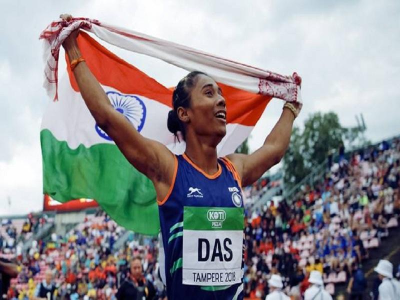 Assam Girl Hima Das Wins Gold at Tampere
