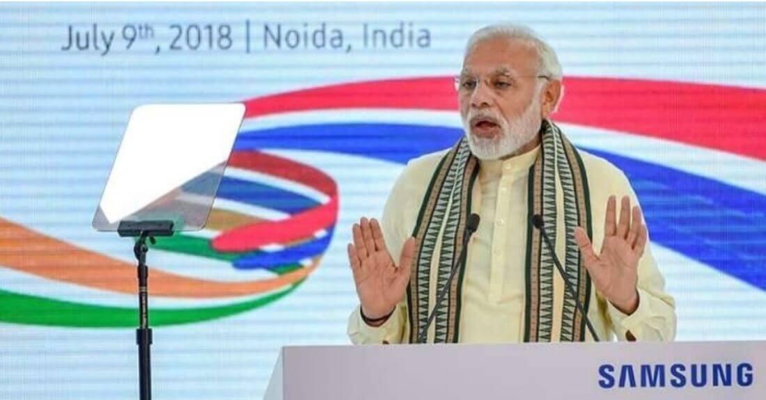 Samsung to make India a global export hub: Modi