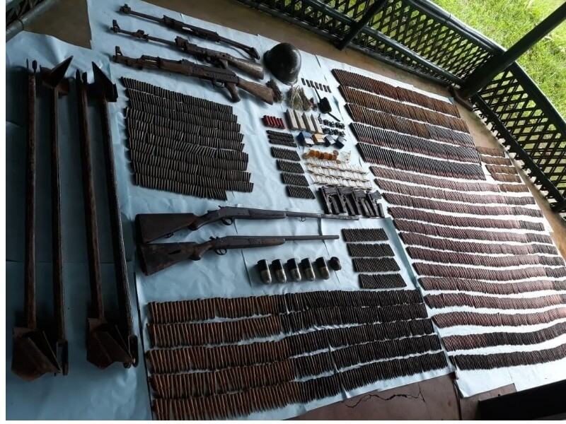 Meghalaya Arms Haul: Huge Cache of Arms and Ammunition recovered in East Garo Hills