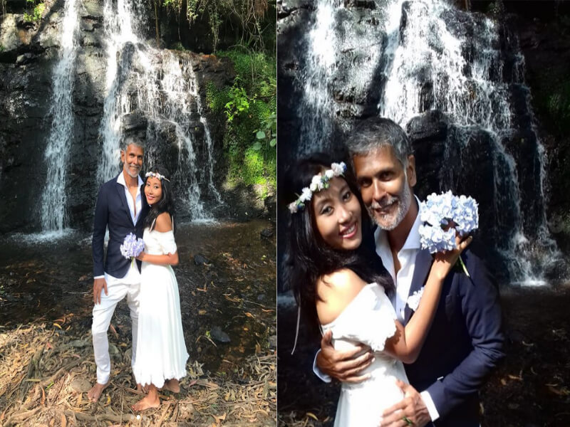 Milind Soman and wife Ankita Konwar exchange Wedding Vows Again amid Woods in Spain!