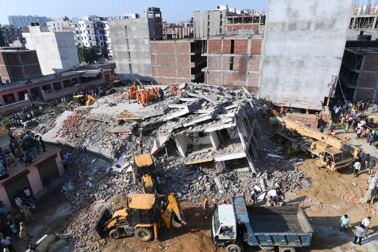 Three killed, many feared trapped, rescue operations on: Noida Building Collapse