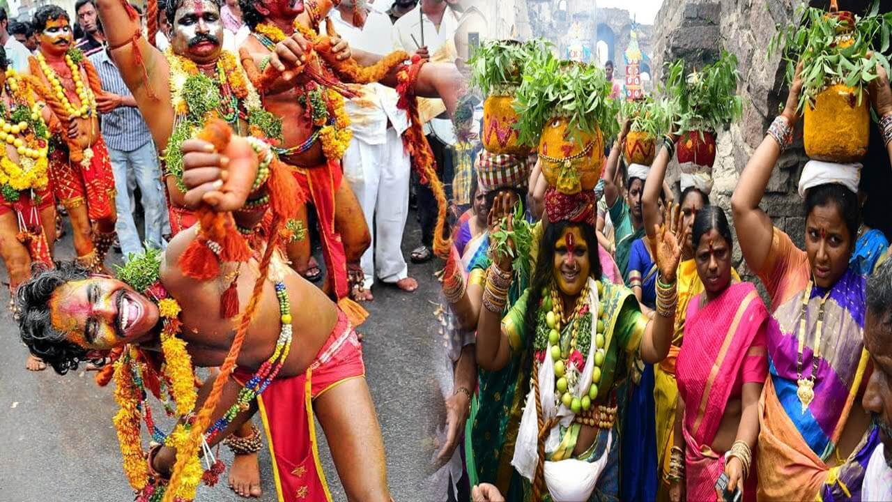 'Bonalu Festival Celebrated with Pomp and Gaiety at Hyderabad
