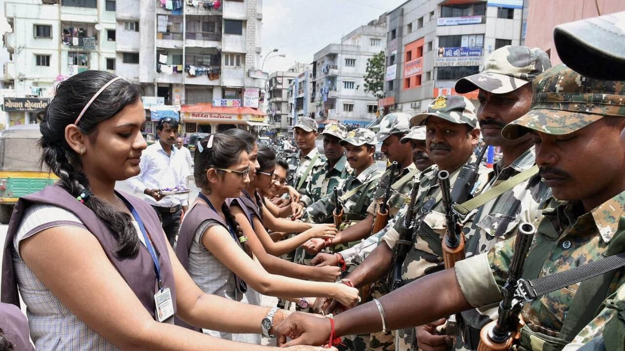 Raksha Bandhan celebrated with CRPF Personnel at Golaghat