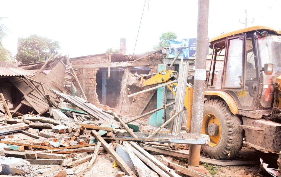 Eviction Drive at Jorabat: Two industries, 42 RCC Structures Demolished