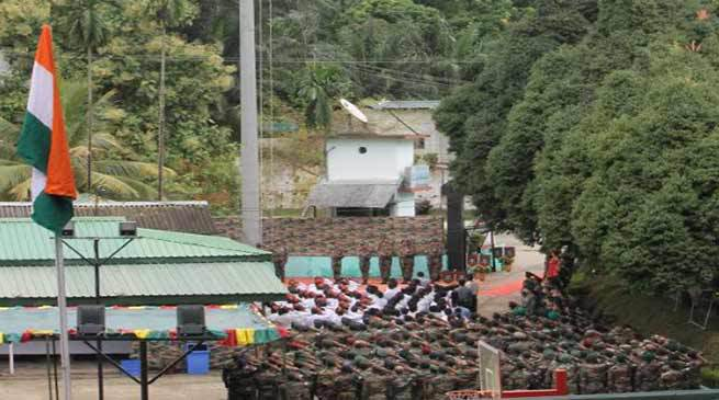 Counter Insurgency Jungle Warfare School Celebrates  Independence Day