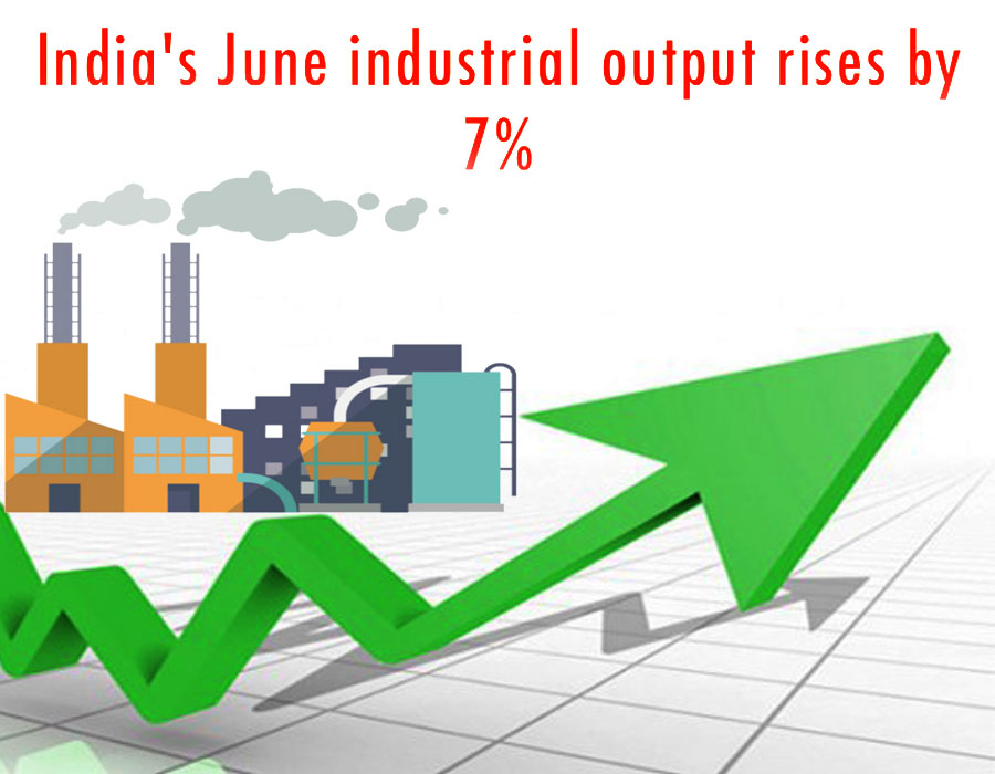 India's June industrial output rises by 7%