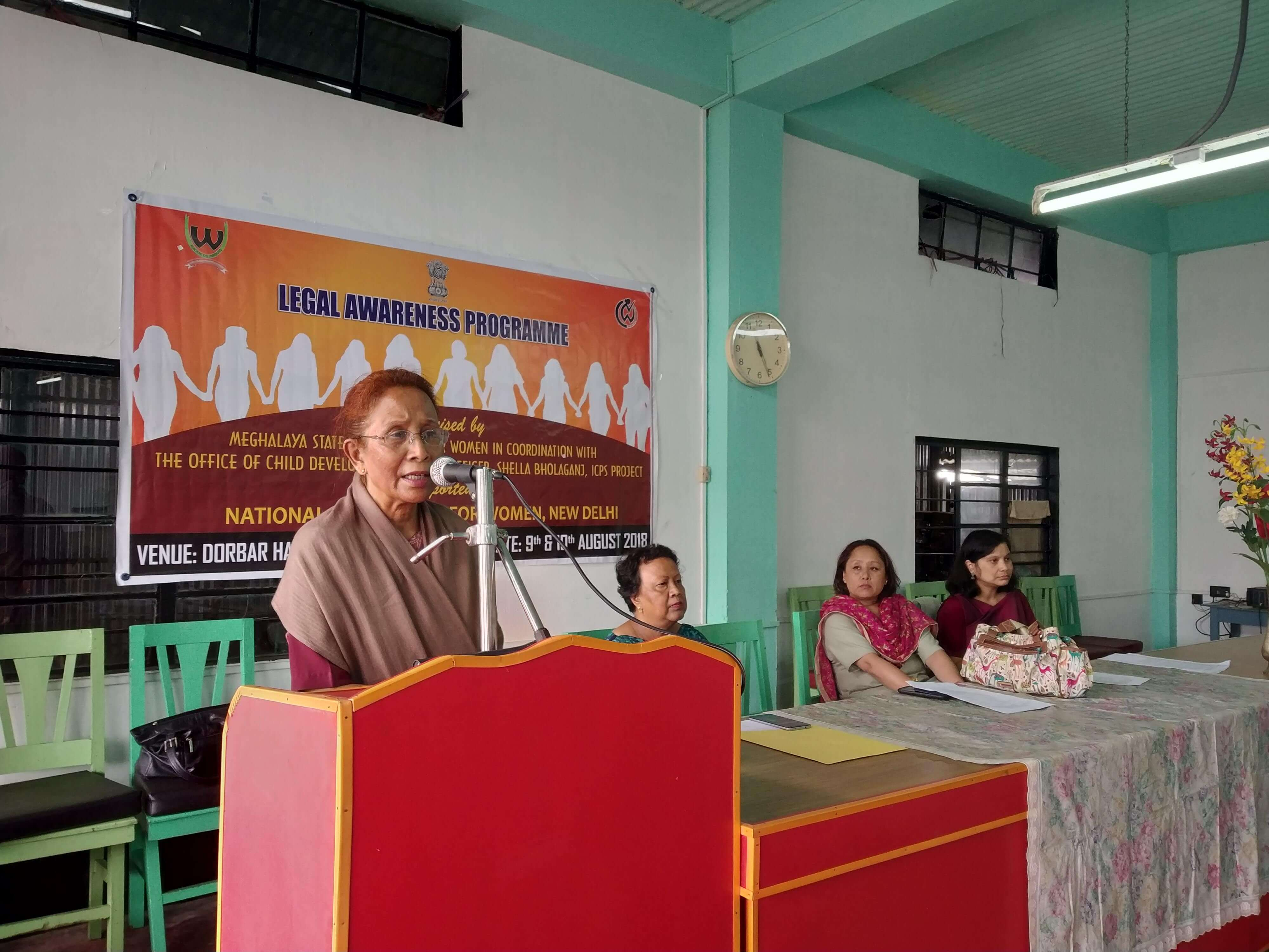 Legal awareness programme by Meghalaya State Commission for Women at Sohra, Shillong