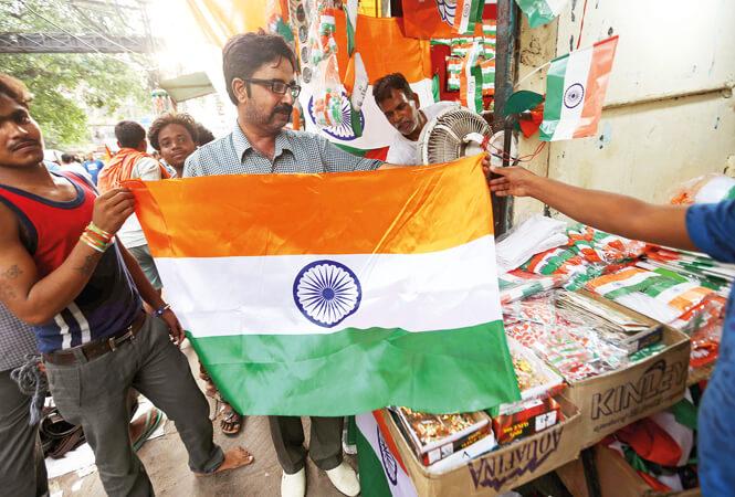 People Flocked to Buy National Flags in Jorhat