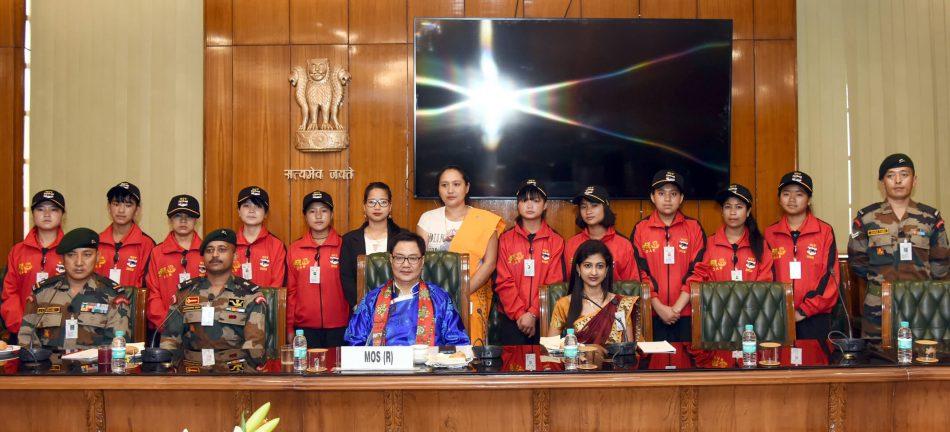 Kiren Rijiju Interacts with Arunachal School Children