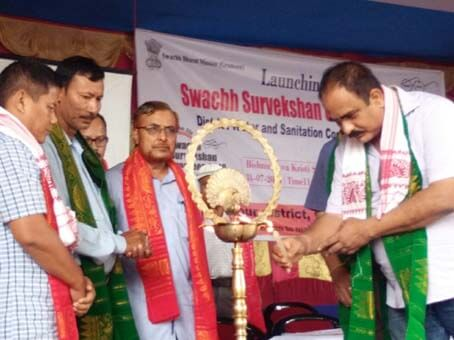 Ministry of Drinking Water and Sanitation Launched a Nationwide Programme Swachh Survekshan Grameen in Different Parts of Assam