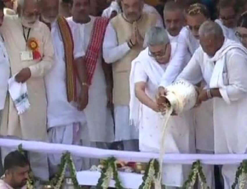 The ashes of Vajpayee immersed in Haridwar
