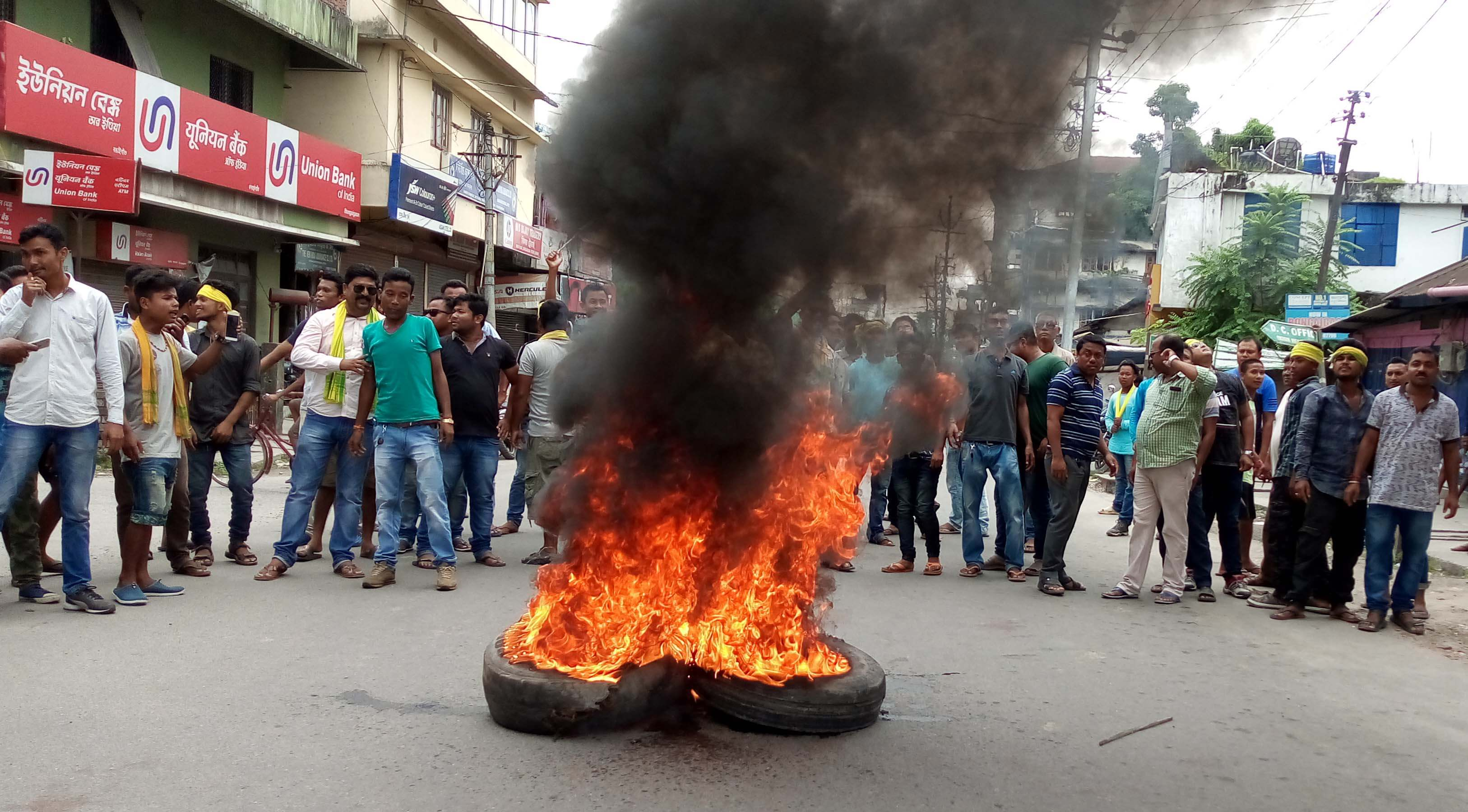 All Koch-Rajbongshi Students' Union (AKRSU) bandh hits normal life in state