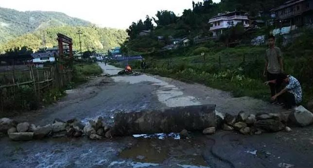 First phase of bandh called by Trans Arunachal Highway Compensation Deprived Forum